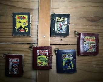 Miniature Book Spiderman,Batman,Wolverine,Superman,Black Panther,Iron Man,comics,pendant,superhero,necklace,comic book,DC,movie,mini Book