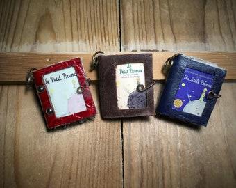 Miniature book,The  little Prince,Antoine de Saint Exupery,novel,library,pendant,handmade,mini books