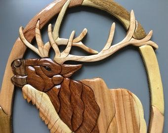 Intarsia Wood Art Etsy