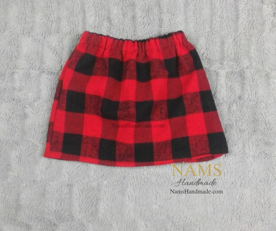 ab5c1290c Red and Black Plaid Skirt for girls Red and Black girls | Etsy