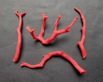 Beautiful 78 Cts 100/% Natural Italian Red Coral Gemstone Loose Branch Polished AAA Quality Coral Stick Smooth Gemstone 55x35--26x40 MM X222