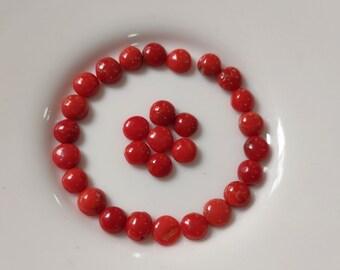 50 CTS Natural Genuino Cuentas De Coral Rojo looes Piedras Preciosas