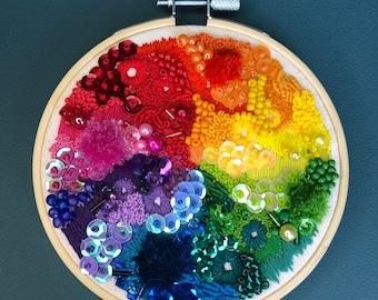 Rainbow embroidery