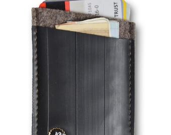 Wallet Böllenfalltor from old bicycle hose - purse Plattgold