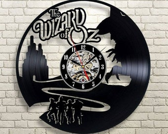 vintage vinyl record the wizard of oz wall clock exclusive wall clock birthday gift christmas gift the wizard of oz art film clock 12 inch