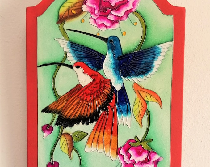 Hand-painted wooden wall key door / COLOMBIA