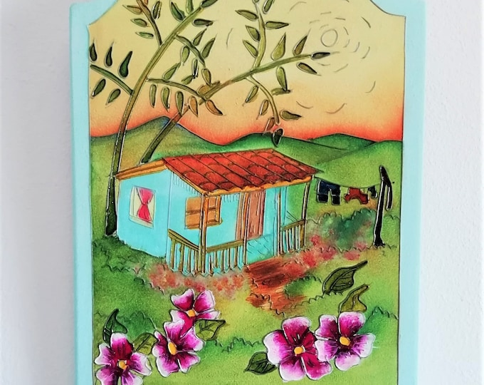 Hand-painted wooden wall door / COLOMBIA