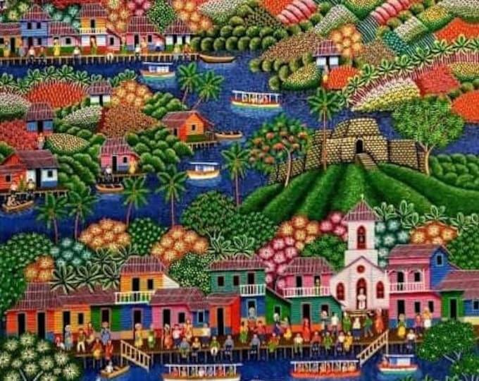 work of luis alvarado, naive art, primitivist, nicaraguan...