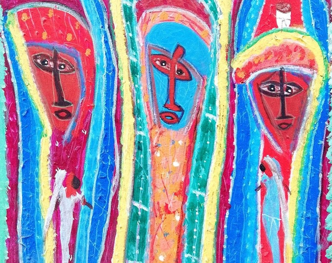 Maxan Jean louis' work, naive art, primitive art, voodoo art...