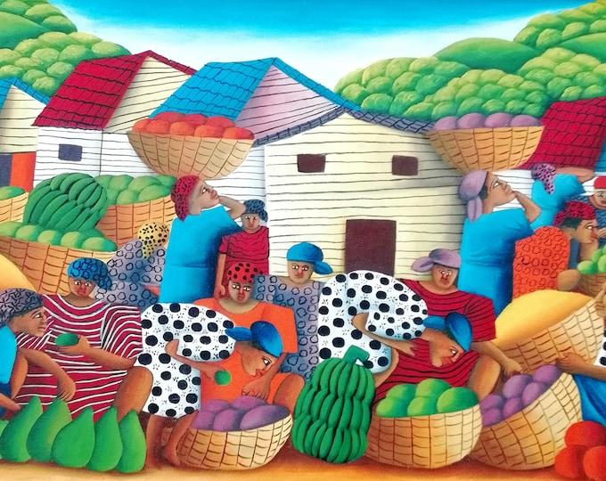 Work of Hugues Domond, Haitian art, naif art, jacmel painter...