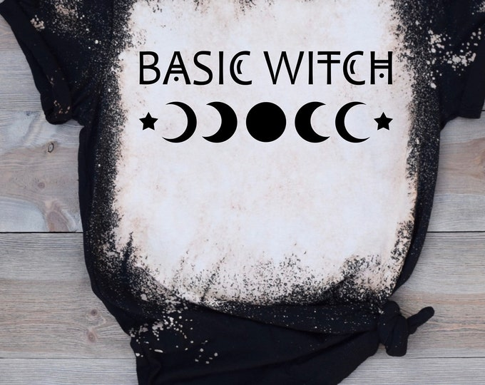 Basic Witch Single Color Screen Print transfer **Physical Item**