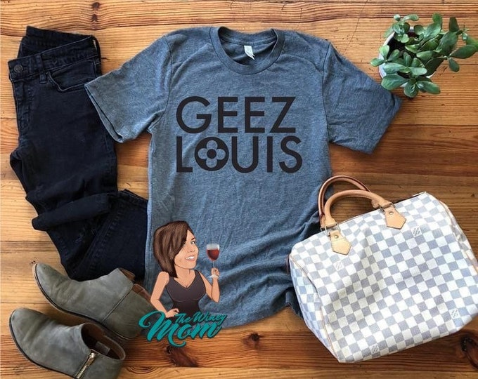 Geez Louis Single Color Screen Print transfer **Physical Item**