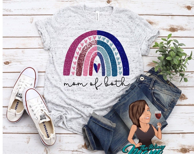 HIGH HEAT Mom of Both Rainbow (Screen Print transfer) **Physical Item**
