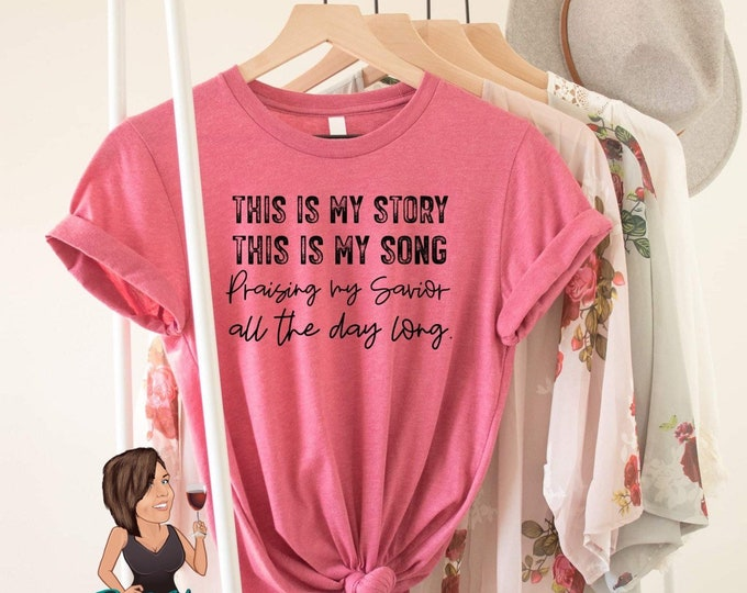 My Story Single Color Screen Print transfer **Physical Item**