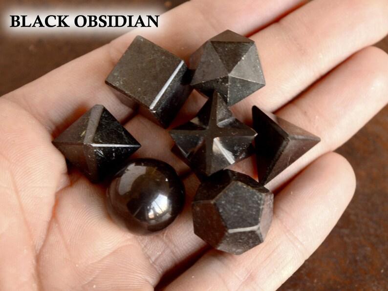7 Pcs Geometry Set Natural Sacred Geometry Gemstone Rock Reiki Chakra Energy Healing Home Decoration Geometry Handmade Gemstone #CC03