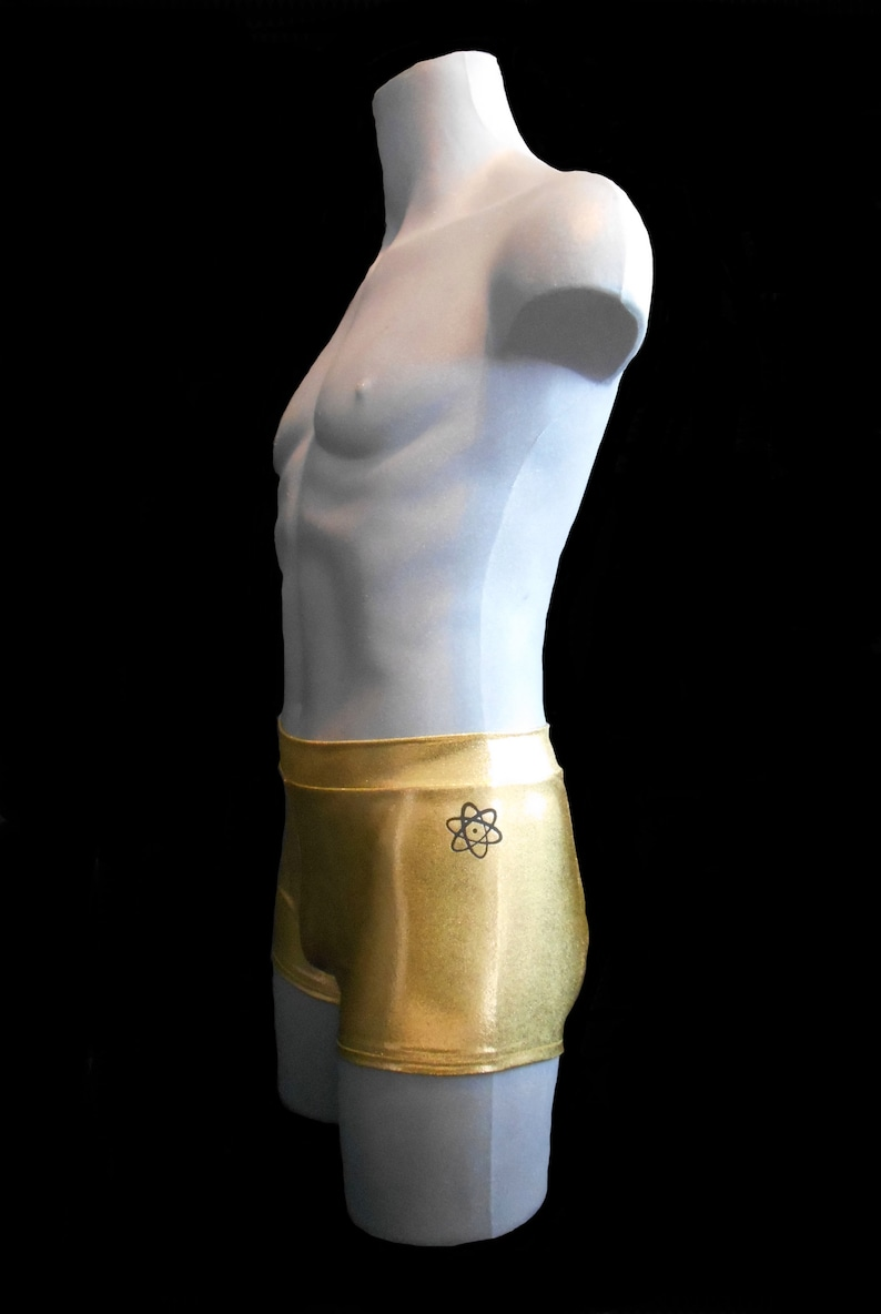 Pole Fitness Men/'s Shorts in Hologram and Mystique Lycra for Pole Dance Rave EDC Clubbing