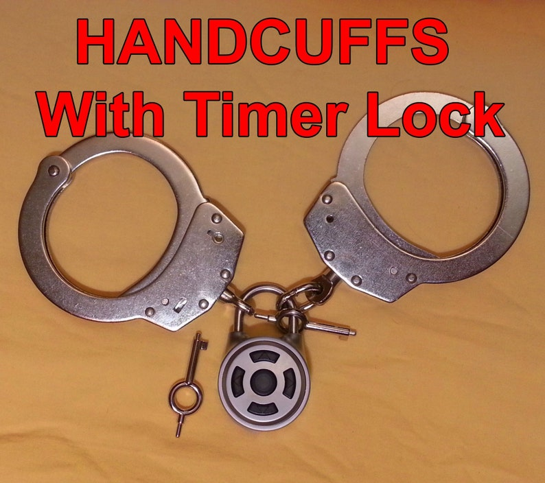Real Working Handcuffs with timer lock + random function