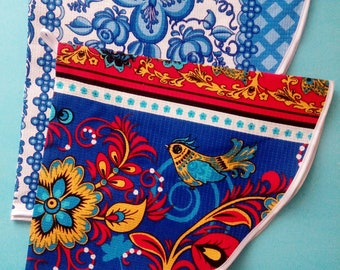 """Russian colorful toys traditional design 100/% cotton towel decoration 23/""""x13/"""""""
