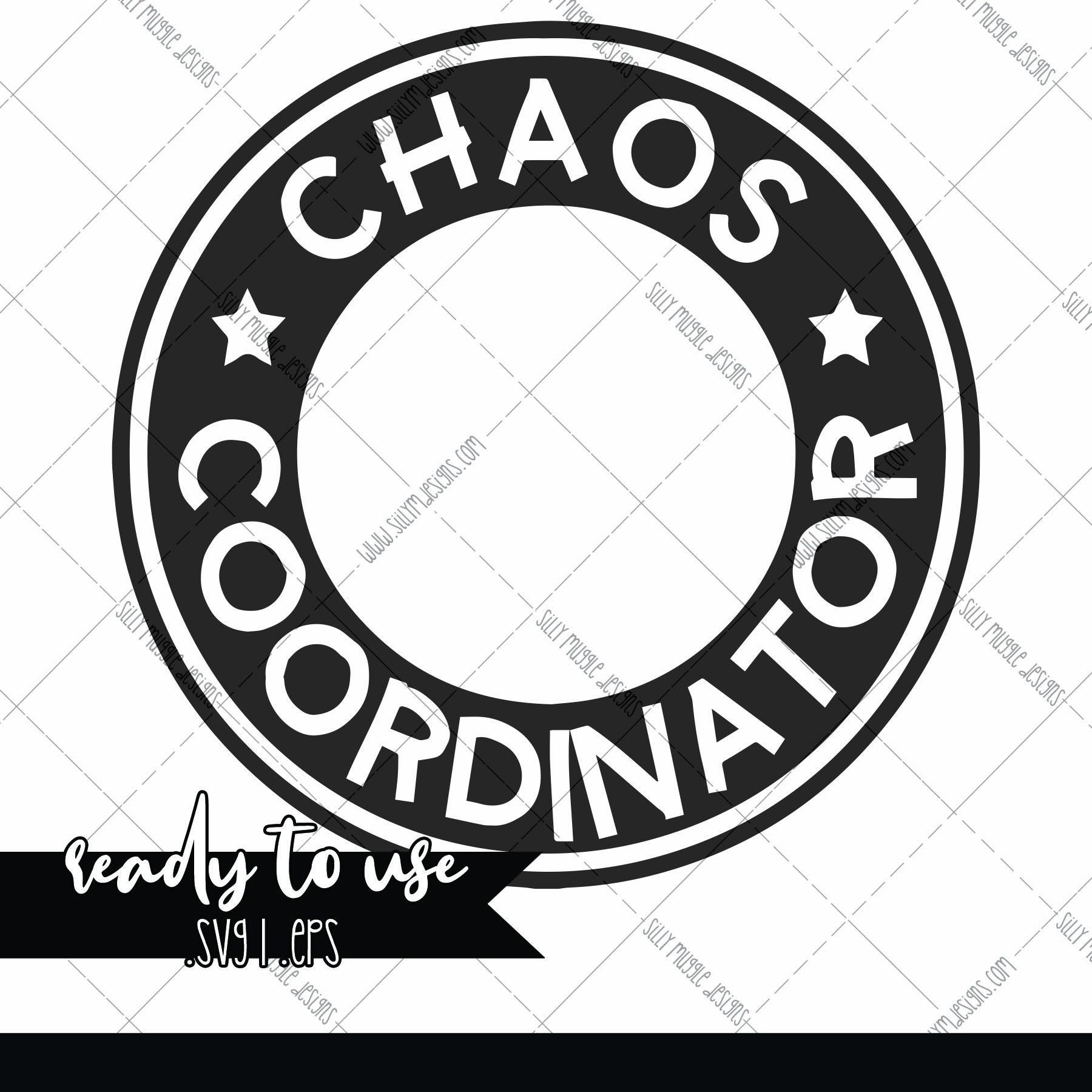 Chaos Coordinator Svg Starbucks Logo Decal Add On