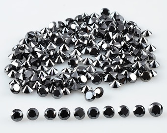 Sale ! 25 Pieces 3.00 MM Natural Black Loose Diamond - Loose Diamond Collection - Solitaire Black Diamond - April Birthstone
