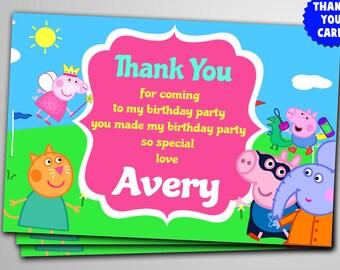 Peppa Pig Thank You Etsy