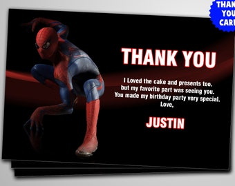 Spiderman Thank You Cards Etsy