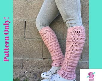 Pattern: Coz-E Leg Warmers Crochet pattern, Legwarmer pattern, crochet legwarmers, yoga socks pattern, beginner crochet pattern, knee high