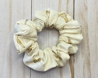 Golden Snitch Scrunchie, scrunchie, hair scrunchie, scrunchie, hair tie, scrunchie for hair, 80s scrunchie, 90s scrunchie,