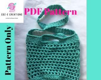 Pattern: Sierra Blanca Market Bag, Crochet pattern, crochet market bag pattern, cross body market bag, crochet crossbody bag pattern,