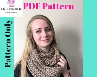 Pattern: Coz-E Bear Hug Infinity Scarf, Crochet scarf pattern, PDf scarf pattern, Infinity Scarf Pattern, Crochet Inifity scarf, Crochet