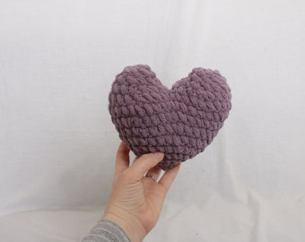 Purple Mini Heart, plush heart, mini heart, stuffed heart, Valentines gift, Valentines Day Decor, Gifts for her, Mini plush heart,
