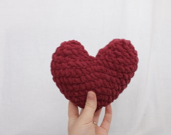 Maroon Mini Heart, plush heart, mini heart, stuffed heart, Valentines gift, Valentines Day Decor, Gifts for her, Mini plush heart,