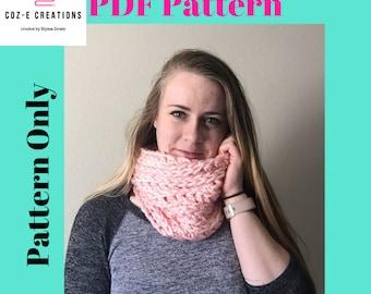 Pattern: Coz-E Bear Hug Cowl, Crochet cowl pattern, PDf scarf pattern, neckwarmer Pattern, Crochet cowl, Crochet pattern