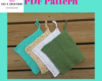 Pattern: Quick Crochet Washcloth, crochet pattern, crochet washcloth pattern, crochet cloth pattern, crochet dishcloth pattern, pdf pattern