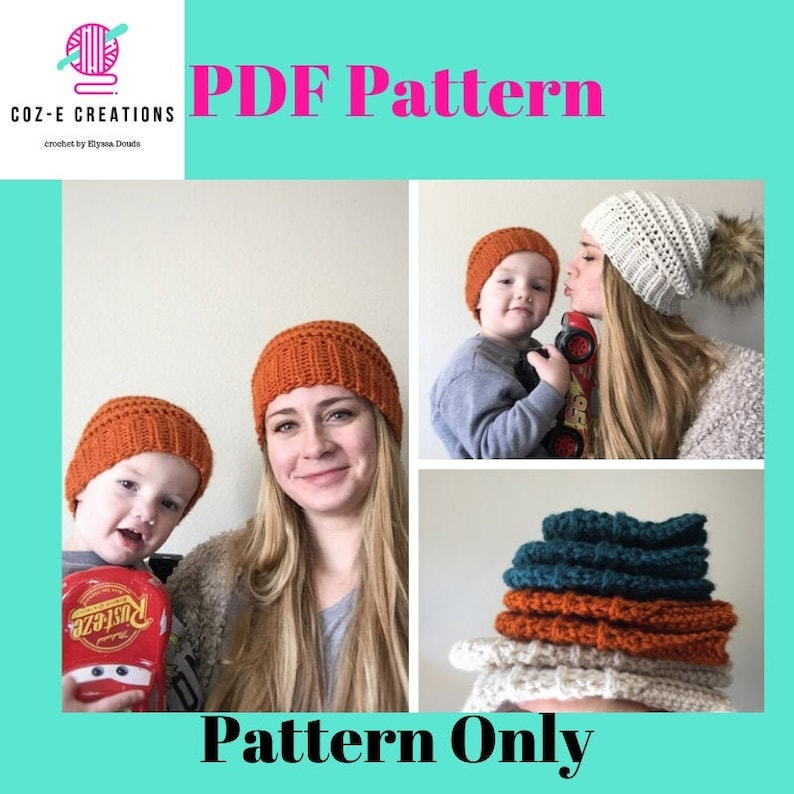 Pattern: The Hezzy Beanie Crochet Beanie pattern with all image 0