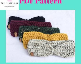 Pattern: 20 minute Earwarmer Crochet Pattern, crochet earwarmer pattern, chunky earwarmer pattern, crochet headband pattern, chunky headband