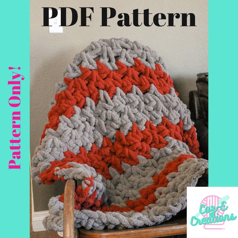 Pattern: Chunky Crochet Blanket crochet pattern Crochet image 0