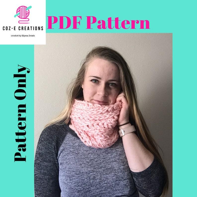 Pattern: Coz-E Bear Hug Cowl Crochet cowl pattern PDf scarf image 0