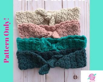 Pattern: Daisy Mae Headband, Crochet Pattern, Crochet Headband pattern, tie headband, Spring headband, Spring crochet headband pattern, pdf