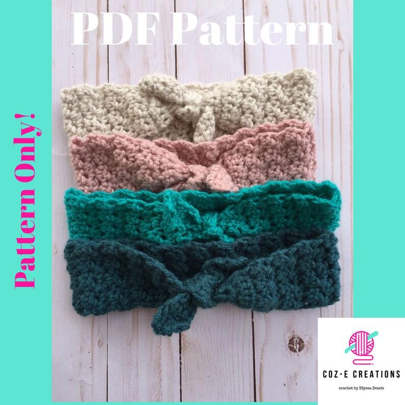 Pattern: Daisy Mae Headband Crochet Pattern Crochet Headband image 0