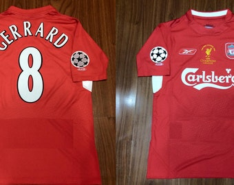 6c2996f1a liverpool 2005 jersey shirt champions league final istambul trikot red  never walk alone gerrard