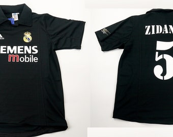 716b5e7c3d4 real madrid centenary jersey away black short sleeve zidane 02 03 zizou