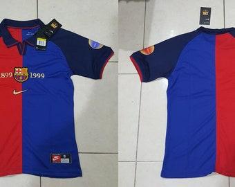 313c673fffd fc barcelona centenary 1999 jersey shirt 1899-1999 t-shirt maglia trikot
