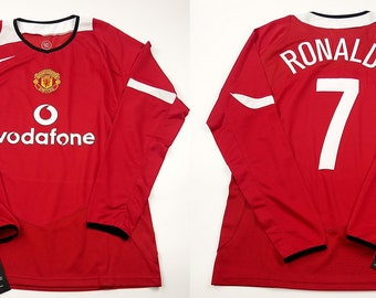 2b3d0eb58e2 Manchester united 04 05 jersey shirt champions league model cristiano  ronaldo shirt jersey playera maglia trikot mesh t-shirt red devils