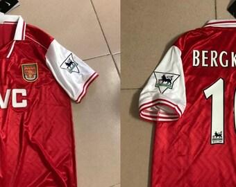 a2a788d0d Arsenal 1996 1997 home jersey shirt dennis bergkamp jvc gunners holland  bergkamp