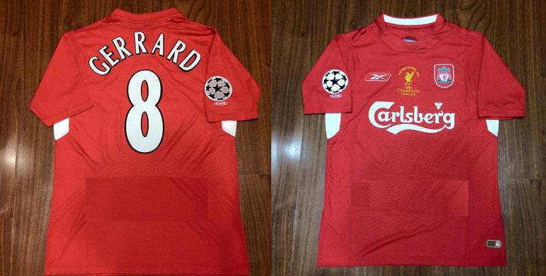 promo code 9af9a 8b23b liverpool 2005 jersey shirt champions league final istambul trikot red  never walk alone gerrard