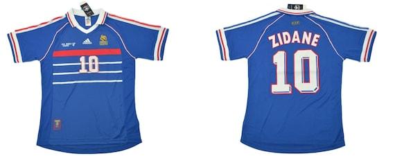 France 1998 Jersey World Cup Final Zidane Shirt Zizou Playera Etsy