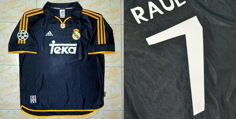official photos b7063 b8fad real madrid 1999 2000 black shirt jersey champions league final