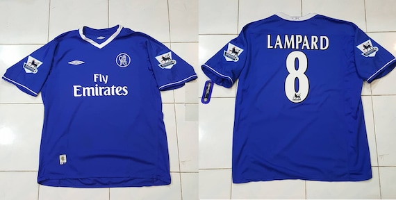 Chelsea Fc 2003 2004 2005 Home Jersey Shirt Lampard Captain Etsy