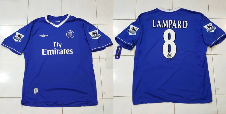competitive price 31428 e9984 chelsea fc 2003 2004 2005 home jersey shirt lampard captain frank blues